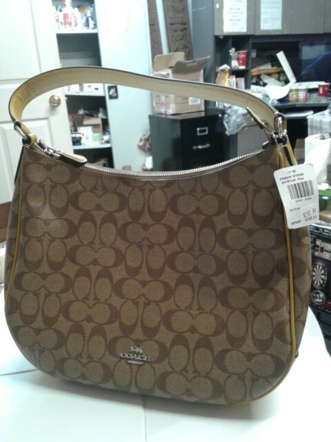 5f31ad8a66ab9 NWT Coach F29209 Zip Shoulder Bag in Signature Coated Canvas In Khaki Flax
