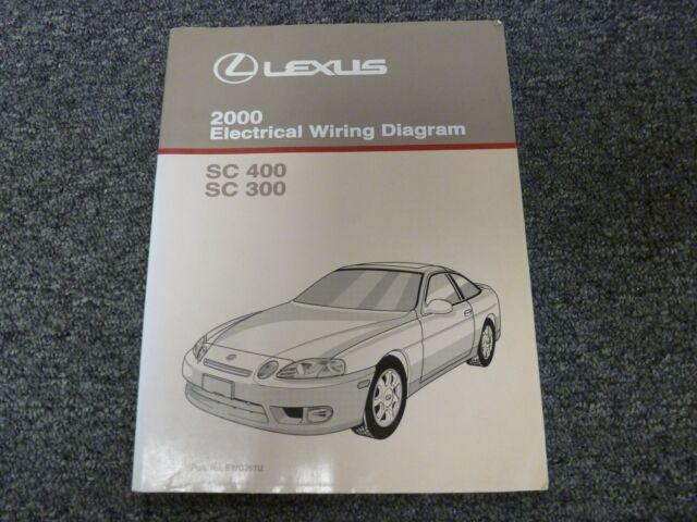 2000 Lexus Sc300 Sc400 Coupe Electrical Wiring Diagram Manual 3 0l 4 0l V8 Rwd