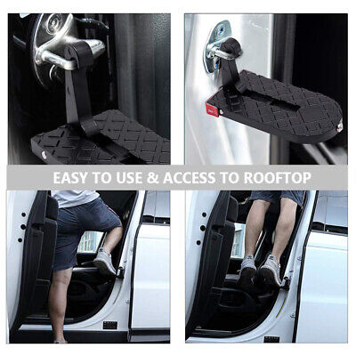 Car Door Step Vehicle Doorstep Folding Ladder Foot Pegs Easy Access to Car Roof