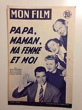 MON FILM N°517 1956 PAPA MAMAN MA FEMME ET MOI / LAMOUREUX COURCEL MORLAY LEDOUX