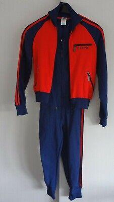Hingebungsvoll Vintage Adidas Jogginganzug Gr.164 60er 70er Jahre Jacke Hose Overall Sportanzug