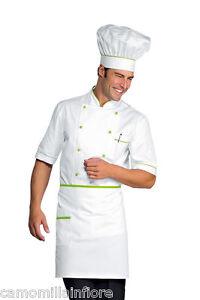 GIACCA Cuoco Leggera NERA e Bianca x Chef Cucina Ristorante Maniche Corte