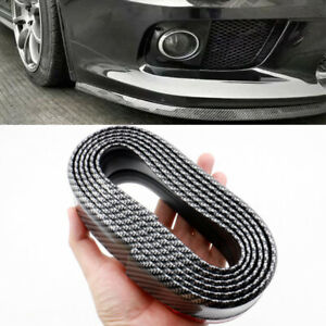 2-5M-x-6CM-Carbon-Fiber-Universal-Car-Rubber-Bumper-Lip-Splitter-Body-Spoiler