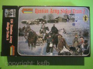 1-72-Strelets-136-Napoleon-Russlandfeldzug-Winter-russische-Schlitten-Soldaten