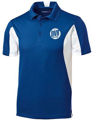 DV8 Men/'s FreakShow Performance Polo Bowling Shirt Dri-Fit Navy Blue White