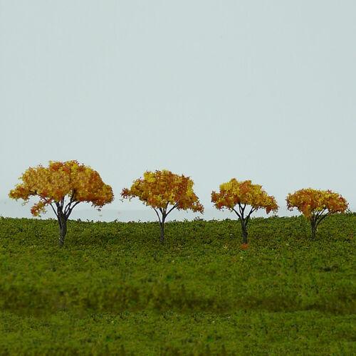 10x Simulation Mini Ahornbaum Modell Fake Pflanze Herbst  Sand Tisch Deko Supply