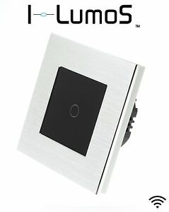 I LumoS Silver Aluminium Frame Touch, Dimmer, Remote & WIFI LED Light Switches