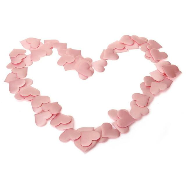100 Pink Heart Petals Flower Wedding Engagement Party Table Decoration
