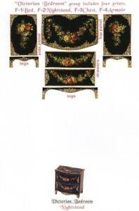 1-12-scale-Natasha-Beshenkovsky-039-s-Mini-Decoupage-Print-Victorian-Nightstand