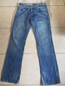 Rusty-mens-sz-28-blue-denim-jeans-Straight-leg-Zip-fly