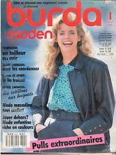 ▬►❤  BURDA N° 1 JANVIER 1988 ❤   MODE FEMMES_HOMMES_ENFANTS