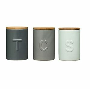 Image Is Loading Fenwick Tea Coffee Amp Sugar Canisters Storage Solution
