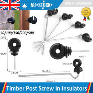 Set Of 50 Screw Long Offset Ring Insulators For Secure Electric Fencing Fence