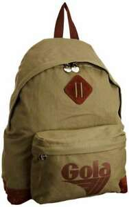 GOLA-HARLOW-CANVAS-KHAKI-TAN-PADDED-BACKPACK-RUCKSACK-SCHOOL-BAG-NEW-WITH-TAGS