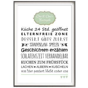 Bilder Drucke Druck Fine Art Bild Poster Familienregeln