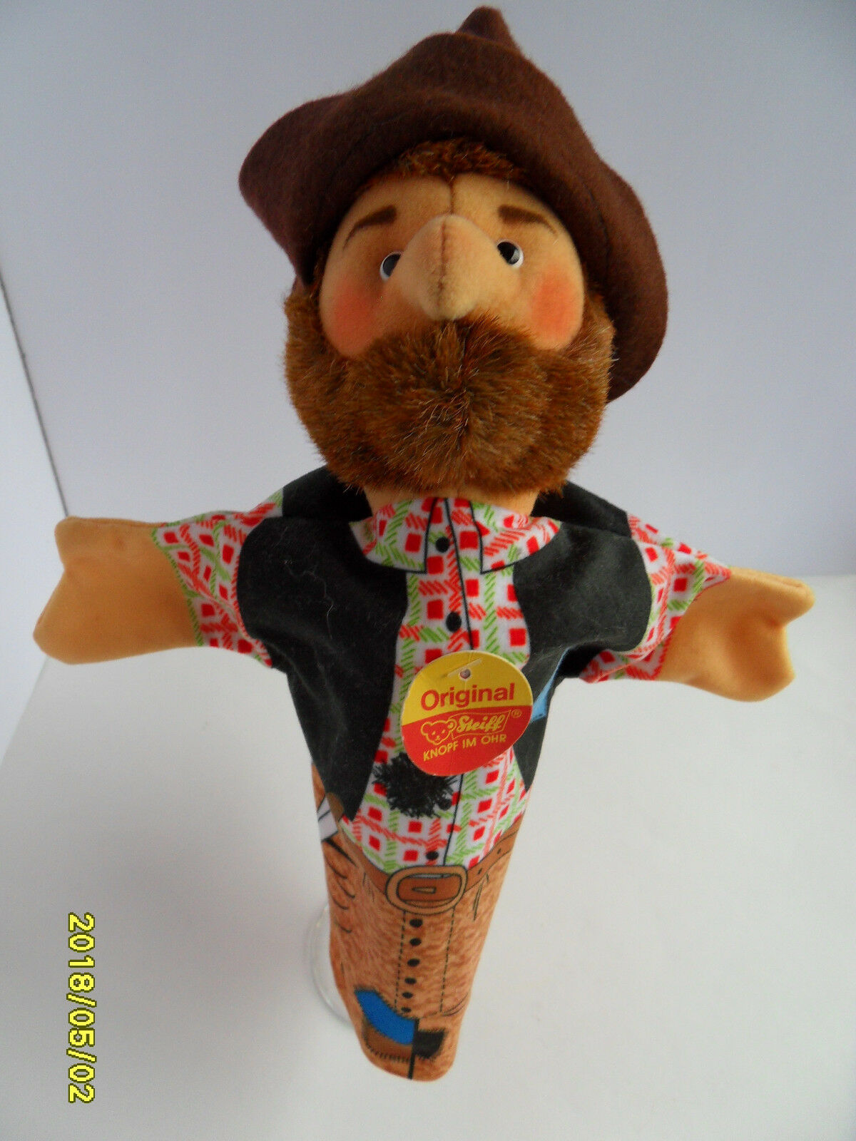 Steiff doll doll doll robber hand puppet all IDs stuffed animal made in Germany 2633 c110c6