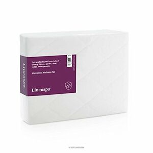 LINENSPA Waterproof Mattress Pad with Quilted Microfiber Cover - Queen