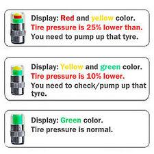 4 Pcs Car Auto Tire Pressure Monitor Valve Stem Cap F44 Indicator Eye Alert FS