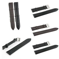 Fashion Genuine Leather Watch Strap Black Brown Color Buckle Size 18mm 20mm 22mm