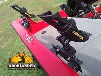 3x Rod Holder Tracker Versatrack System Cannon Rod Holder Installed