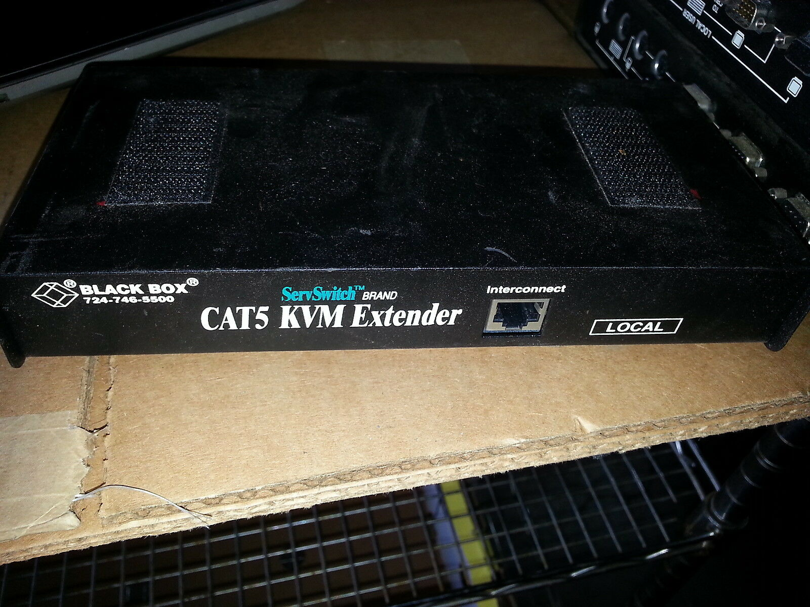EACH .. Black Box ACU1008A Servswitch Cat5 Kvm Extender LOCAL . QTY