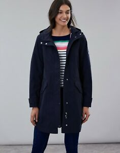 Joules-Loxley-Longline-Waterproof-Women-039-s-Coat-Marine-Navy-Now-With-30-Off
