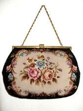 Sehr GROSSE Gobelintasche, Petit Point Lupenstickerei Tasche, Pretty Gobelin Bag