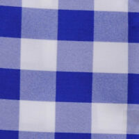Royal Blue & White Checkered Table Runner - 13 X 90 - Checker Table Runners