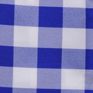 "ROYAL BLUE & WHITE CHECKERED TABLE RUNNER - 13"" x 90"" - CHECKER TABLE RUNNERS"