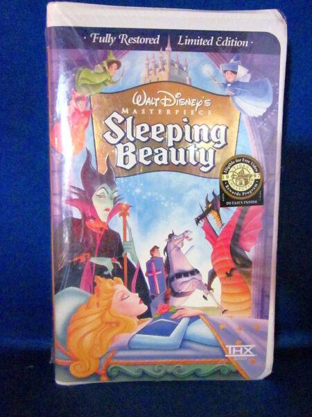 sleeping beauty vhs 1997 limited edition ebay. Black Bedroom Furniture Sets. Home Design Ideas