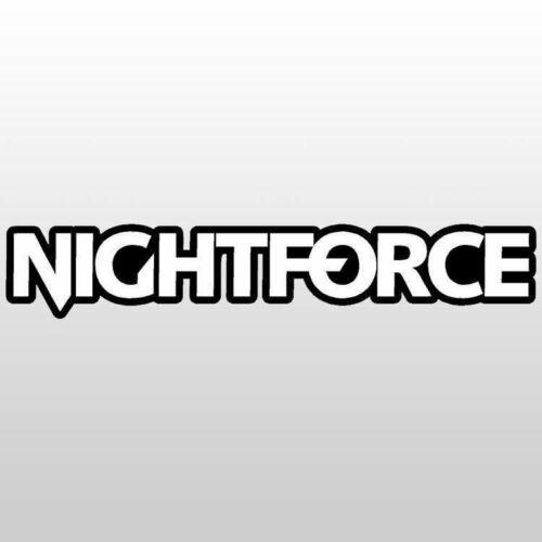 "Nightforce optics Decals  Sticker 6.0/"" x 1.0/"" dual colors white over black"