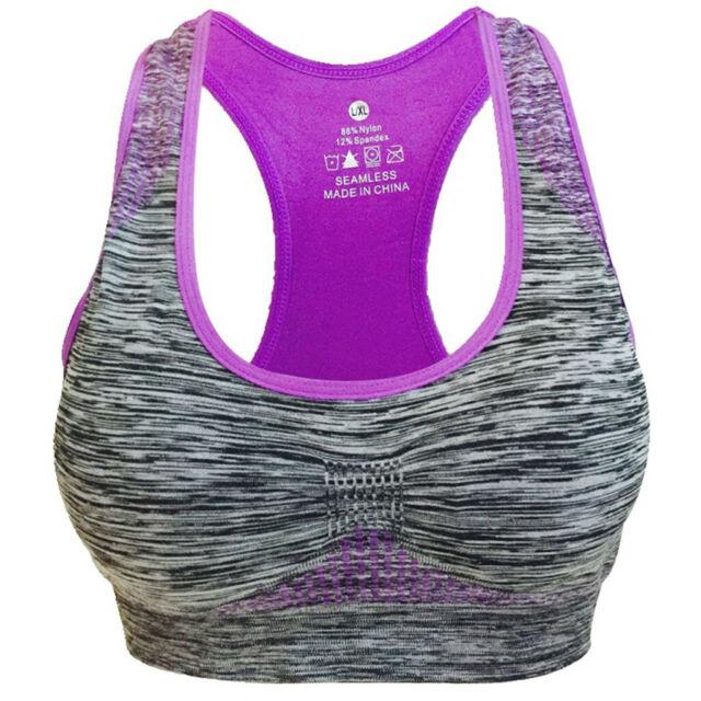 Vermilion Bird Womens Seamless Comfort Sports Bra Padded Workout Yoga Bras