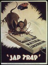 USA World War 2 Poster Jap Trap Material Conservation 10x8 Inch Reprint