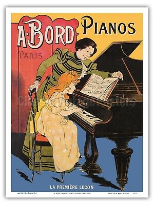 The First Lesson A. Bord Pianos, Paris - Eugene Oge 1900 ...