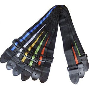 Unique-Simple-Nylon-Adjustable-Belt-Guitar-Strap-Acoustic-Electric-Guitar-New