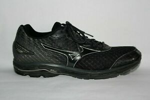 Mizuno Wave Rider 19 Running Shoes, Athletic Sneakers, Men's Size 12, Black