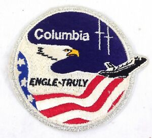 NASA-1981-Space-shuttle-patch-STS-2-Mission-Crew-patch-Columbia-Engle-Truly