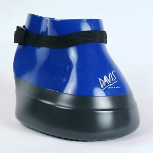 Details about Davis BLUE Medicine Soaking Poultice Horse Hoof Boot thrush  abscess asst sizes