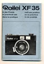 Rollei XF35 libretto di istruzioni multilingue E483