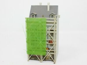 "N Scale Faller Cafe/City House w/ Scaffold Pre-Built 2.25x 2.5 x 4.75"" (#308)"