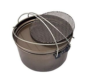 Camp-Oven-12-inch-Spun-Carbon-Steel-5-in-1-Fry-Pan-Hang-Pan-Boiling-Pot-Trivet