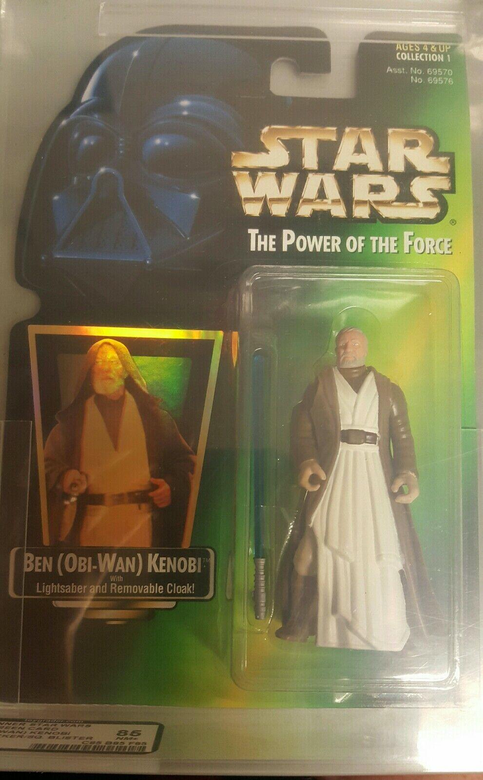 1997 Kenner Star Wars POTF2 vert voitured  AFA Graded Ben (Obi-Wan) Kenobi 85NM+  pour votre style de jeu aux meilleurs prix