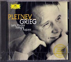 Mikhail-PLETNEV-GRIEG-Piano-Sonata-Lyric-Pieces-7-Fugues-for-Piano-DG-CD-NEU