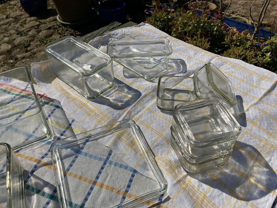 Glas, Fade, skåle med og uden låg.