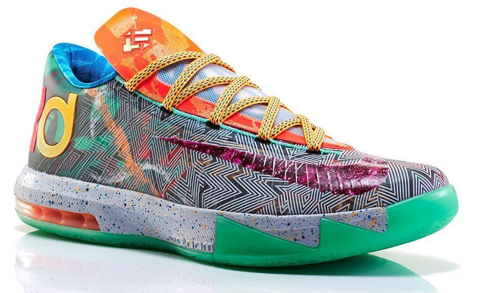 Nike KD 6 VI PRM What The Size 14. 669809-500 jordan kobe GSW Warriors