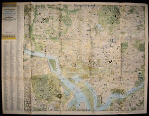 Washington Map Society.A Pocket Map Of Central Washington D C National Geographic Society