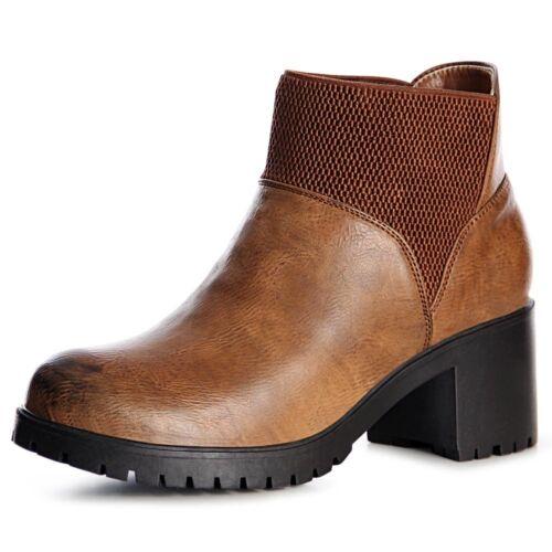 Damenschuhe Plateau Boots Ankle Boots Stiefeletten Stiefel Halbstiefel Booties