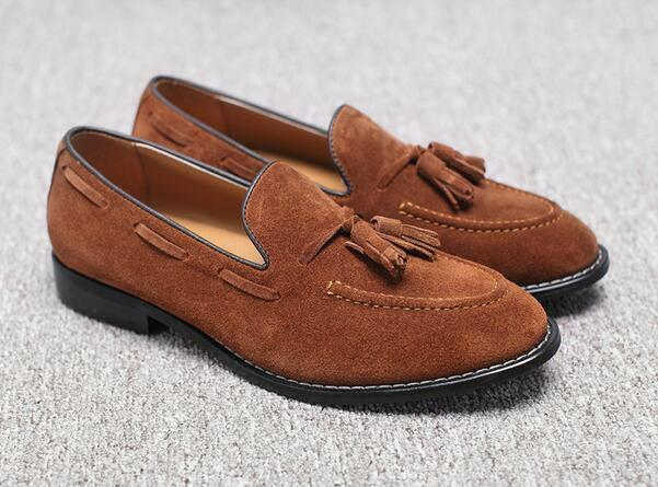 Uomo Suede Pelle Pelle Pelle Tassel Slip On Loafers Falts Dress Moccasin Gommino Shoes A24 2ad1d0