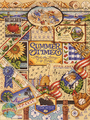 Cross Stitch Kit ~ Janlynn Colorful Summer Time Living Sampler #023-0347
