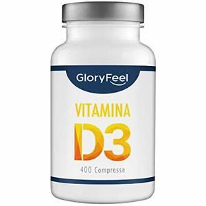GloryFeel Integratore Vitamina D 1000 IU 25mcg   400 Compresse ad Alto Dosagg...